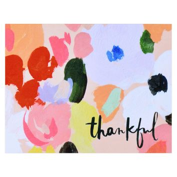 Petals Thankful Folded Thank You Cards Boxed