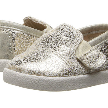 TOMS Kids Avalon Slip-On (Infant/Toddler/Little Kid) Gold Metallic Foil - Zappos.com Free Shipping BOTH Ways