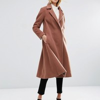 ASOS Midi Swing Trapeze Coat at asos.com