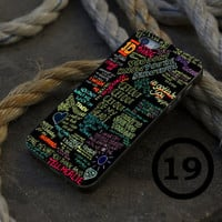 One Direction Black Quote - iPhone 4/4s, iPhone 5/5S, iPhone 5C and Samsung Galaxy S3/S4 Case.
