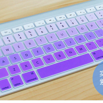 "Silicone EU/UK Russian alphabet Gradient Colors Keyboard Cover Stickers Protector for MacBook Air 13"" MacBook Pro 13"" 15"" Retina"