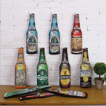 Wall Bottle Opener Retro Beer Bottle Opener Cafe Bar Restaurant wall Pendant Home Furnishing wall mural wall