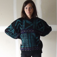 vintage 80s cosby sweater oversized cozy