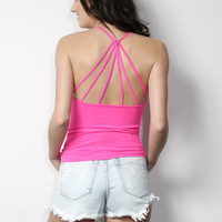 Suzette Strappy Back Cami - Pink