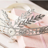 2014 The new! The great gatsby high-grade Korean wedding bride tiara crown wedding wedding dress accessories hair accessories = 1930183428