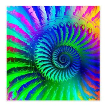Psychedelic Rainbow Pattern Shower Curtain> Rainbow Fractal Art Gifts> Hippy Gift Shop Funky Hippie Gifts