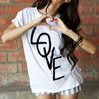 Spray Painted Love Tee | FOREVER 21 - 2000050902