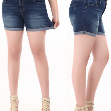 Plus Size Summer Denim Shorts Jeans Retro High Waist  Shorts Women Casual Custom Fit Slim Short Feminino Pantalones Cortos Mujer