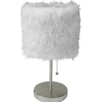 White Fuzzy Lamp