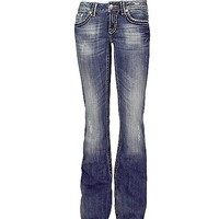 Miss Me Embroidered Flap Stretch Jean