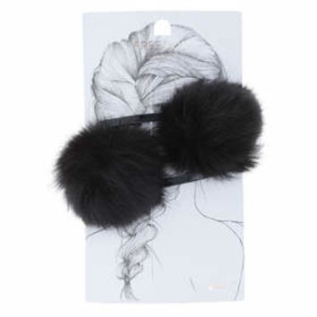 Pom Pom Hair Clips - Black