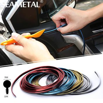 5M Lot Car-styling Car Door Dashboard Air Outlet Steering-wheel Styling Interior Decoration Thread Strip Auto Accessories