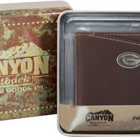 Canyon Outback Georgia Bulldogs Leather Wallet Bi-fold Design