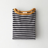 Striped Alexa Cashmere Sweater
