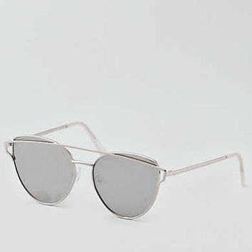 AEO Silver Winged Metal Sunglasses , Silver