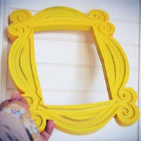 New Friends Frame TV Show Monica Photo Frame Door Yellow Very Good Finish - Loveful