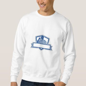 Referee Umpire Official Hold Whistle Crest Retro Sweatshirt