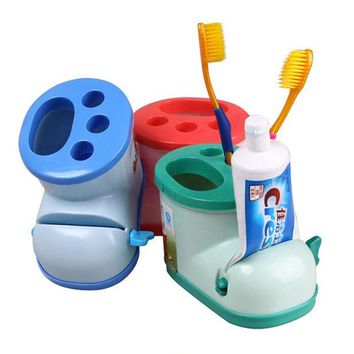 VONC1Y Creative Multifunctional Boots Toothbrush Holder with Toothpaste Squeezer For Bathroom Products