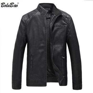 BOLUBAO Brand Motorcycle Leather Suede Jackets Men and Winter Leather Clothing Men Leather Jackets Male Casual Coats