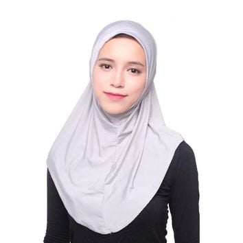 Fashion Muslim Women Islamic Hijab Inner Cap Wrap Headband Shawl Long Soft Scarf Women