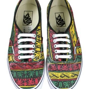 Vans Authentic Van Doren Rasta Trainers - Buy Online at Grindstore.com