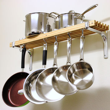 Cooks Standard Wall Mount Pot Rack, 36 by 8-Inch | Overstock.com Shopping - The Best Deals on Pot Racks