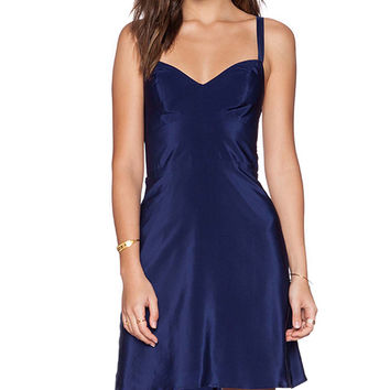 Amanda Uprichard Ali Dress in Navy
