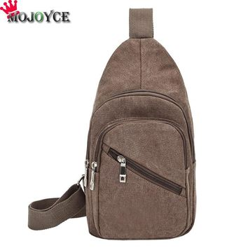 Men Chest Bag Canvas Casual Shoulder Messenger Fashion Crossbody Bags Travel Pack Single Shoulder Bags Winter Canvas Chestpack