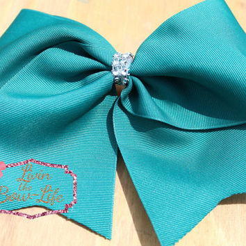 Teal Cheer Bow
