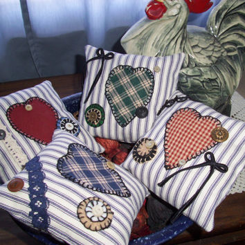 Shelf Pillows or Bowl Fillers Handmade Scented Primitive Folk Art