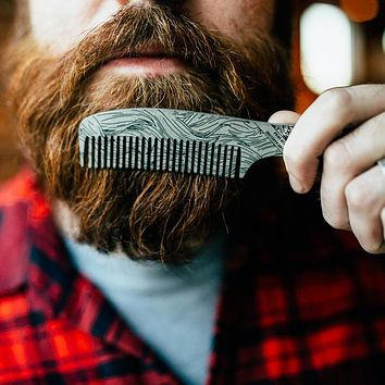 Damn Handsome Beard Comb Bottle Opener