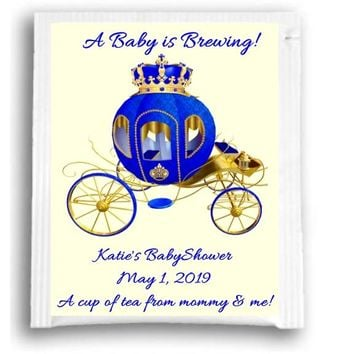 10 Prince Baby Shower Tea Favors Carriage