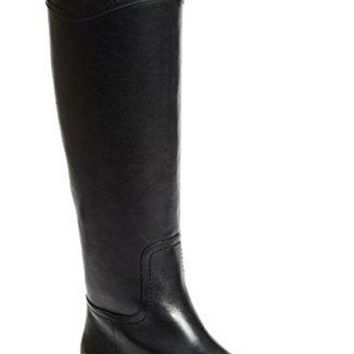 ONETOW Tory Burch Boots Ashlynn Venus Leather Riding Boot Flat