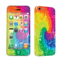 SkinGuardz Protective Vinyl Decal Sticker Skin for Apple iPhone 5C - (Tie Dye)