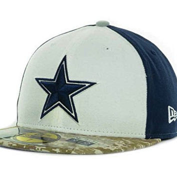 New Era Dallas Cowboys Salute to Service On-field 59Fifty Fitted 08800e5d1