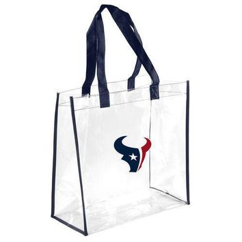Houston Texans Clear Reusable Plastic Tote Bag NFL 2017 Stadium Approved