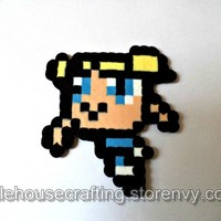 Bubbles Perler - Powerpuff Girls from Little House of Crafting