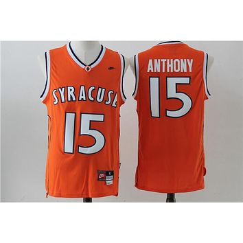 NCAA University Basketball Jersey Syracuse Orange # 15 Carmelo Anthony