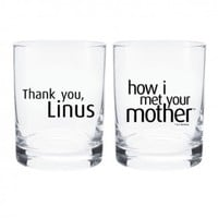 How I Met Your Mother Thank You Linus Rocks Glass