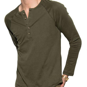 Garment Washed Henley