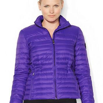 Lauren Ralph Lauren Plus Quilted Mockneck Jacket