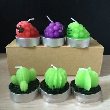 Adorable Succulent Mini Tea Light Candles