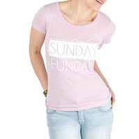 Girls 'Sunday Funday' Graphic Tee