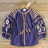 Arizona Sky Blouse in Navy