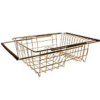 "Sink Dish Rack 13 3/4"" x 11 1/2"" x 5"" (extends up to 27 1/2"" wide), Stainless Steel"