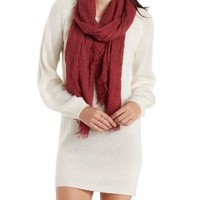 Fuzzy Slouchy Sweater Dress by Charlotte Russe