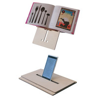 Reook, laser cut wood book stand,wood book holder,transportable wooden lectern and stand for ebook reader, tablet or phablet,