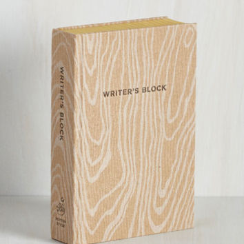 Rustic Writer's Block by ModCloth