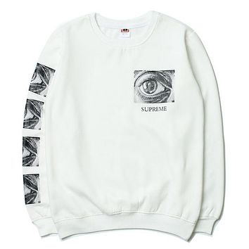 Supreme Print Round Neck Top Sweater Pullover