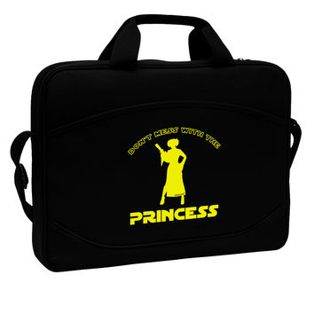 "Don't Mess With The Princess 15"" Dark Laptop / Tablet Case Bag"